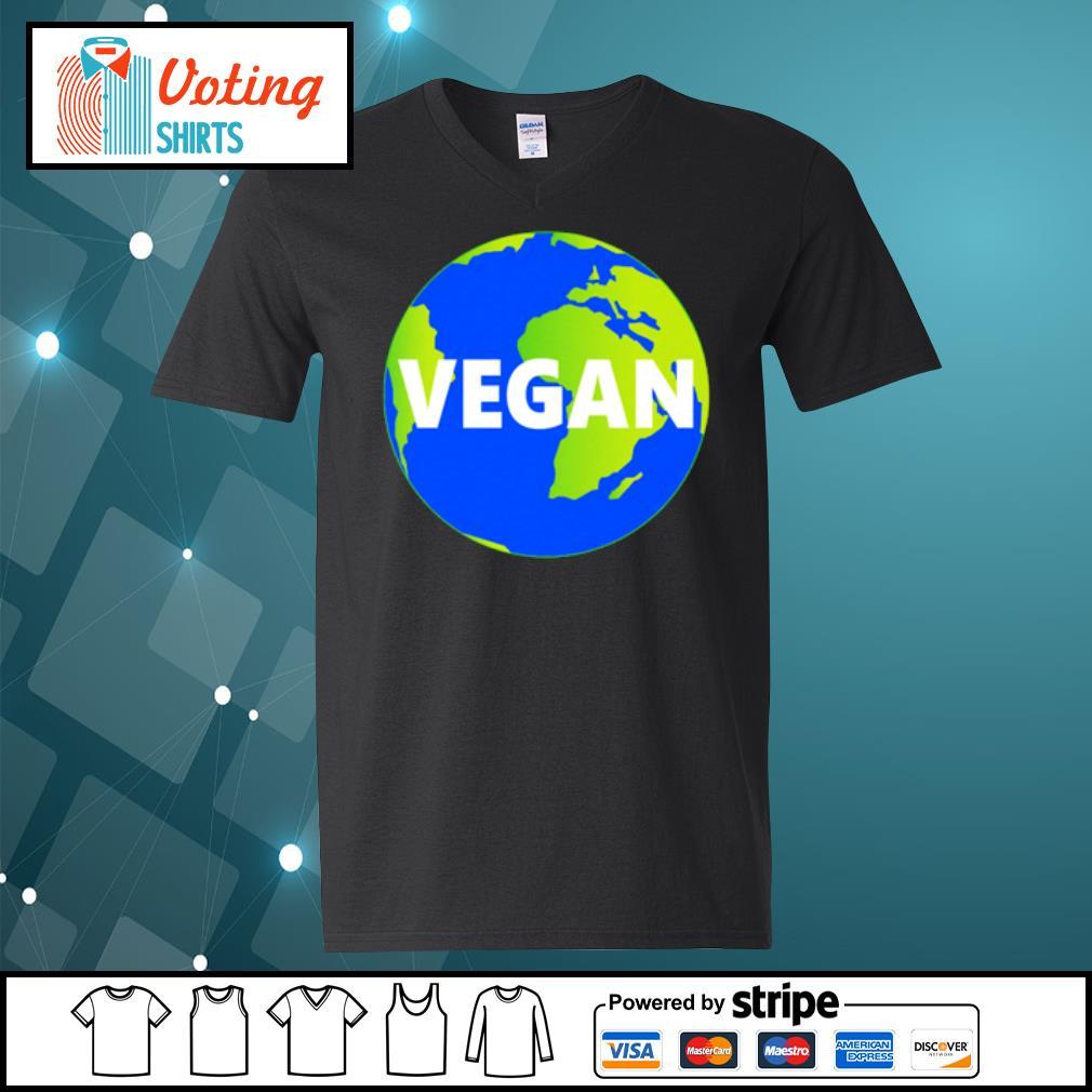 Earth Day vegan s v-neck-t-shirt