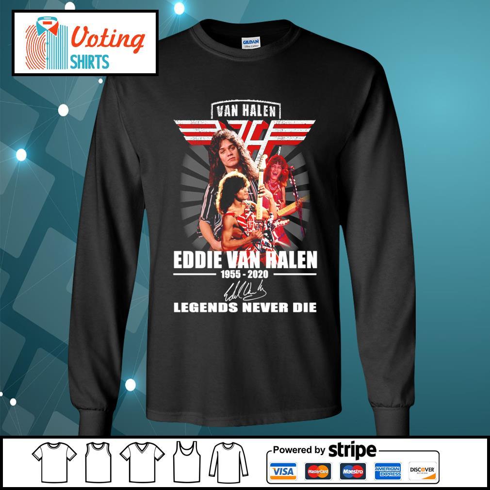 Eddie Van Halen 1955-2020 signature Legends never die s longsleeve-tee