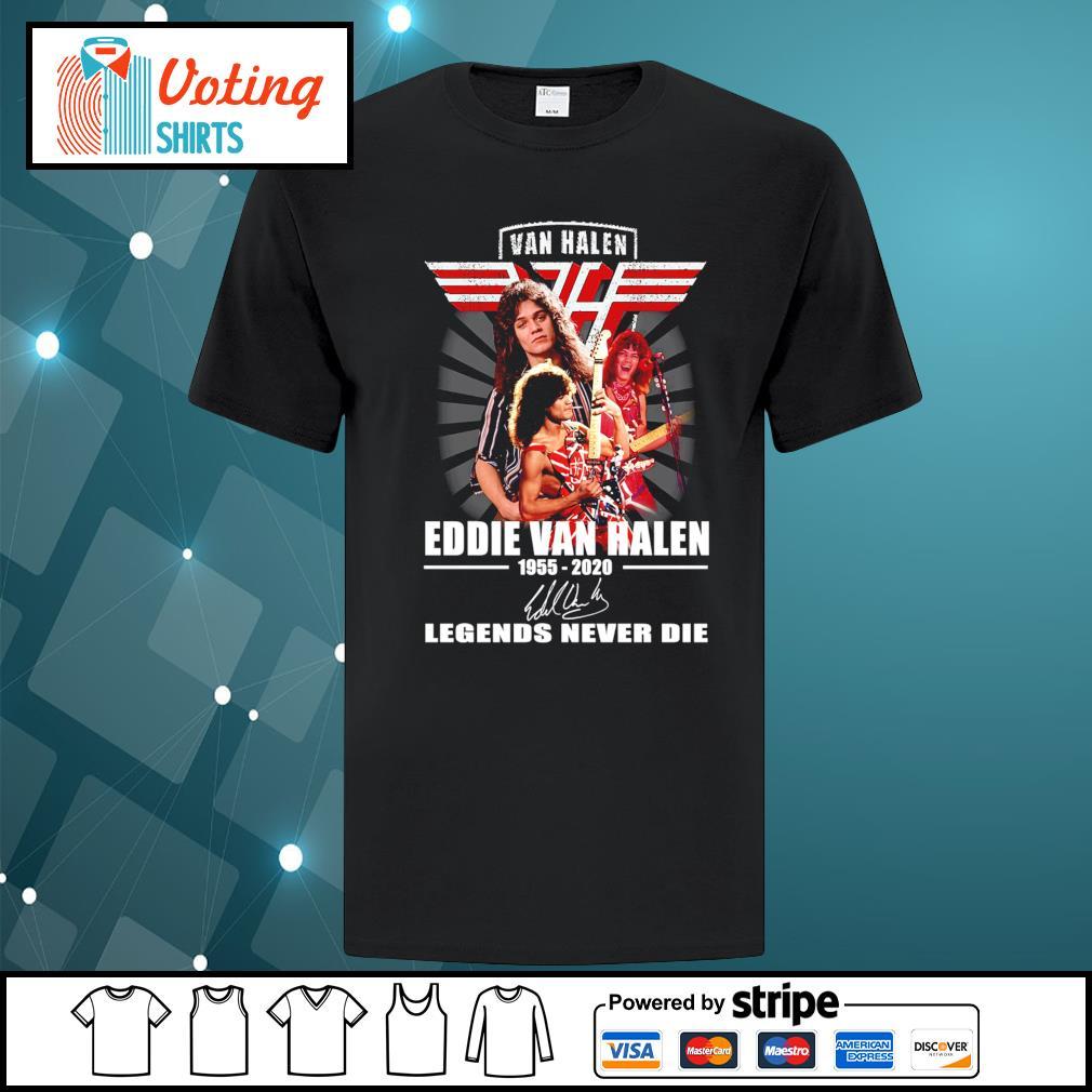 Eddie Van Halen 1955-2020 signature Legends never die shirt