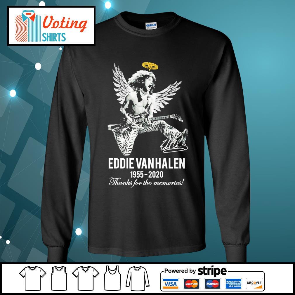 Eddie Van Halen 1955-2020 thanks for the memories s longsleeve-tee