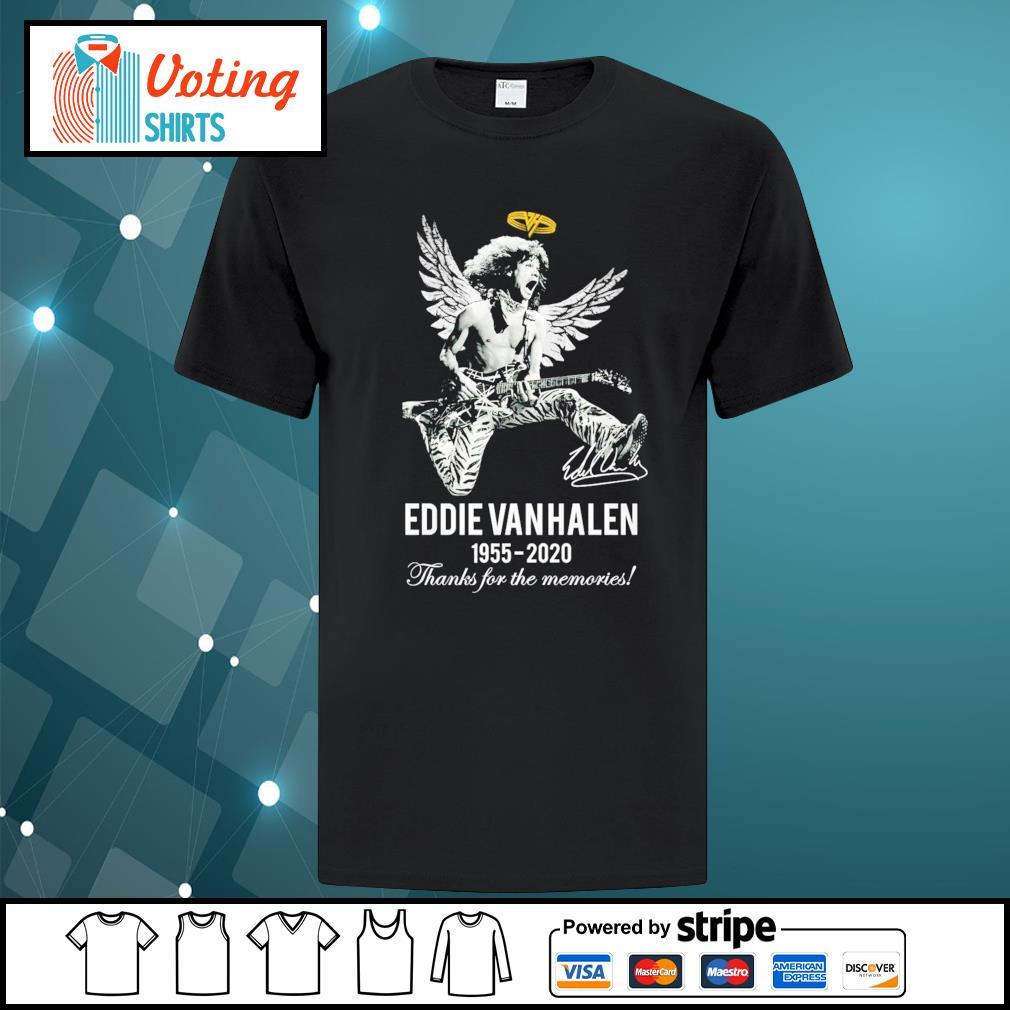 Eddie Van Halen 1955-2020 thanks for the memories shirt
