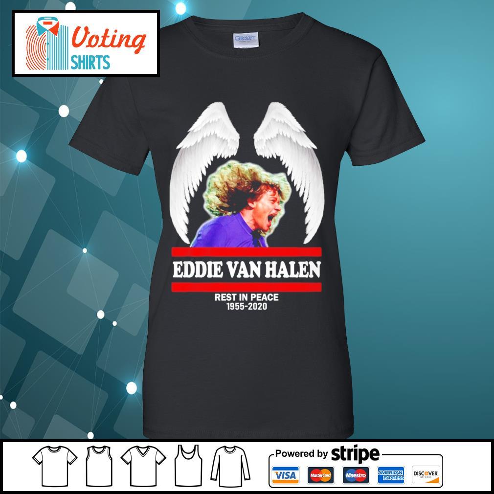 Eddie Van Halen rest in peace 1955-2020 s ladies-tee