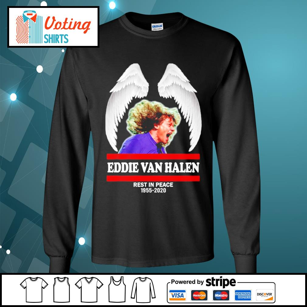 Eddie Van Halen rest in peace 1955-2020 s longsleeve-tee