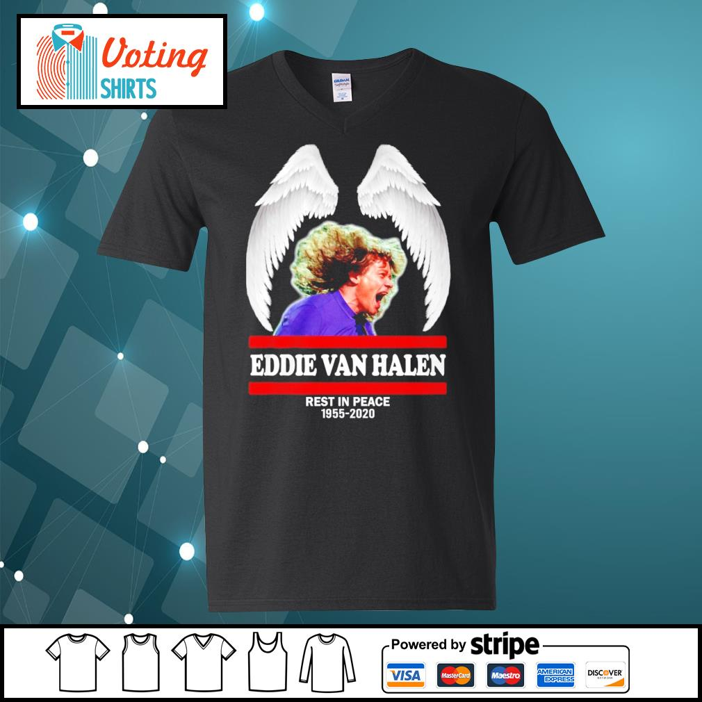 Eddie Van Halen rest in peace 1955-2020 s v-neck-t-shirt