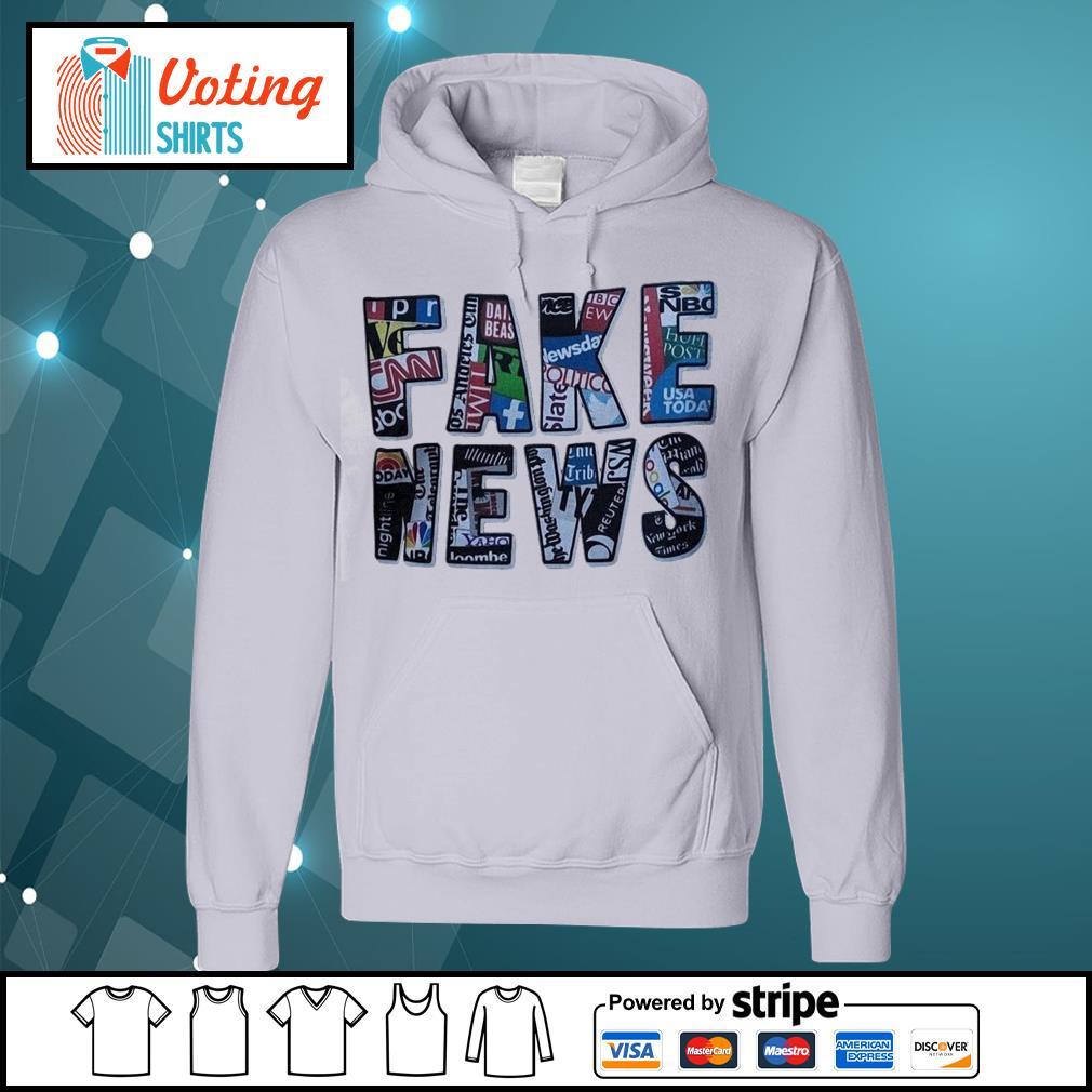 Fake news social network s hoodie