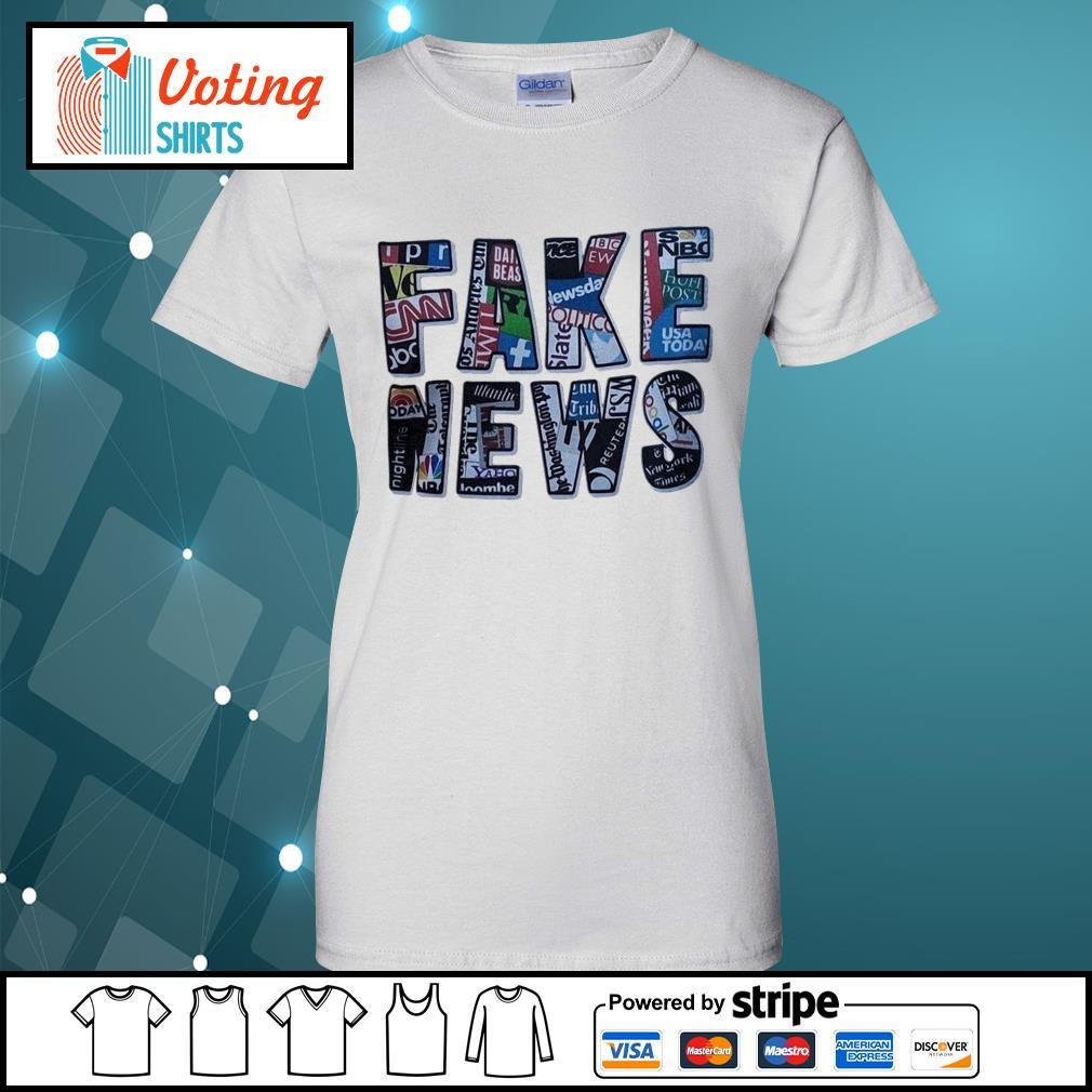 Fake news social network s ladies-tee