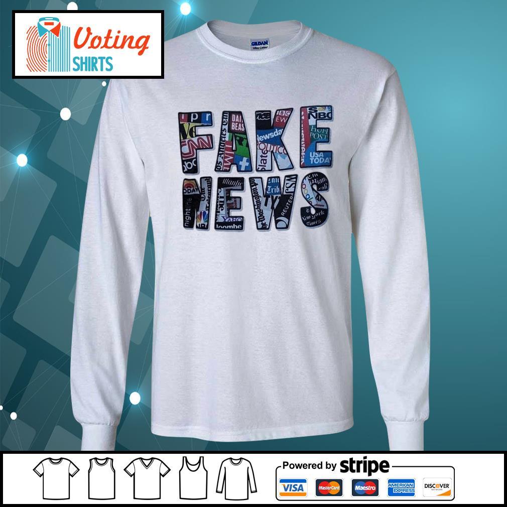 Fake news social network s longsleeve-tee