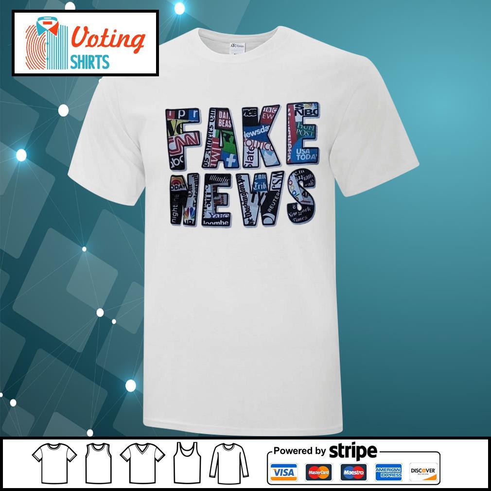 Fake news social network shirt