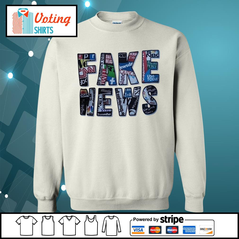 Fake news social network s sweater