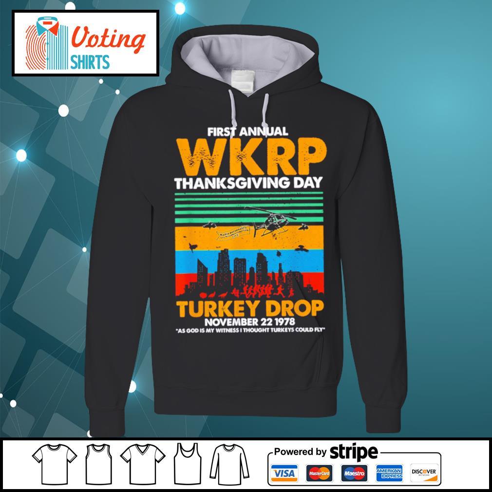 First annual WKRP thanksgiving day turkey drop November 22 1978 vintage s hoodie