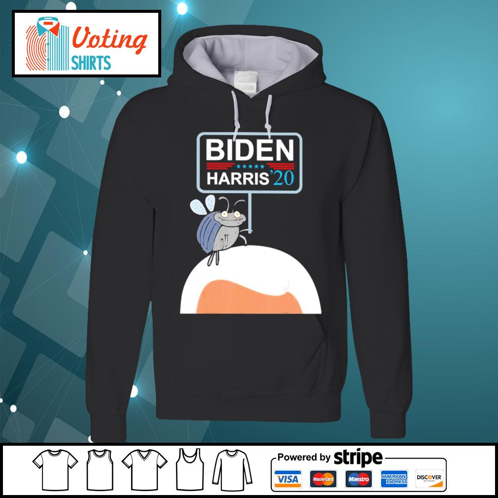 Fly on Mike Pence's Head for Biden Harris 2020 s hoodie