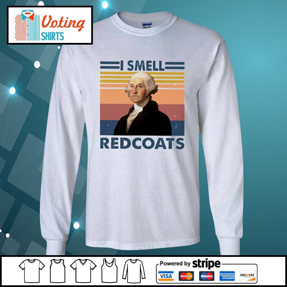 George Washington I smell redcoats vintage s longsleeve-tee