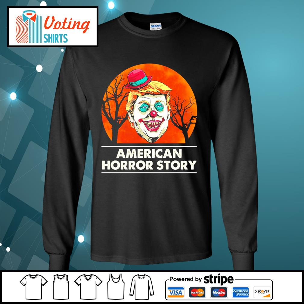 Halloween Donald Trump American horror story blood moon s longsleeve-tee