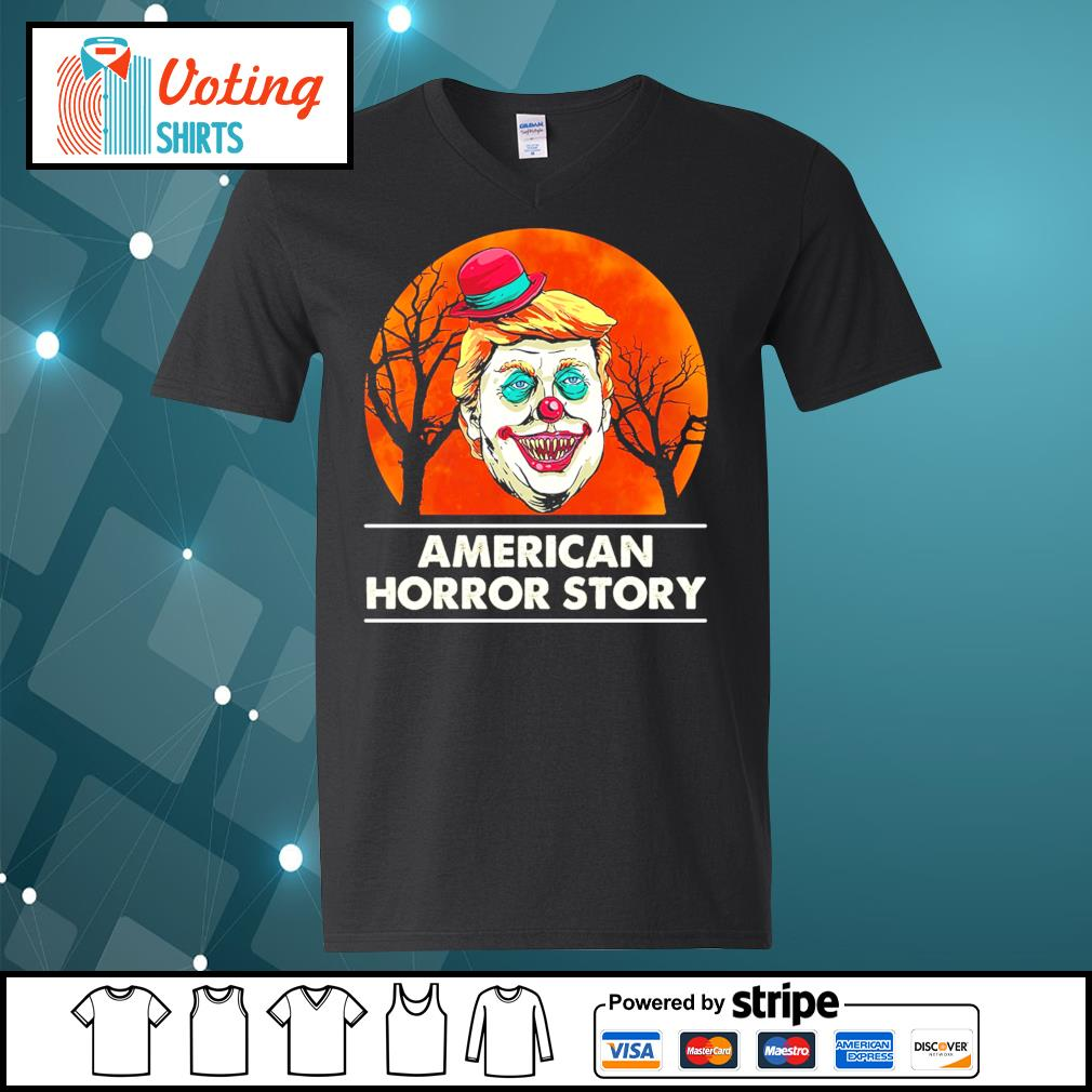 Halloween Donald Trump American horror story blood moon s v-neck-t-shirt