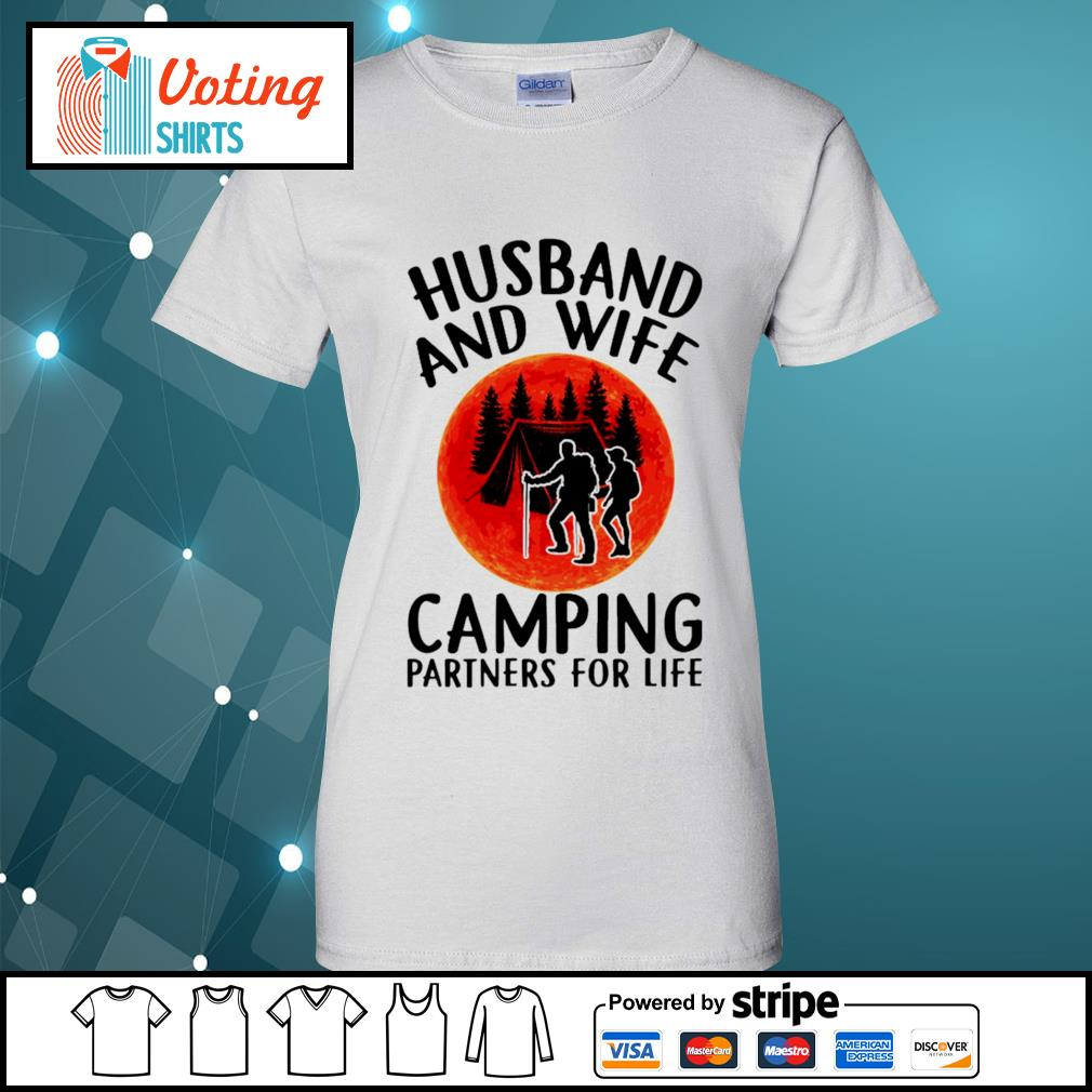 Husband and wife camping partners for life s ladies-tee