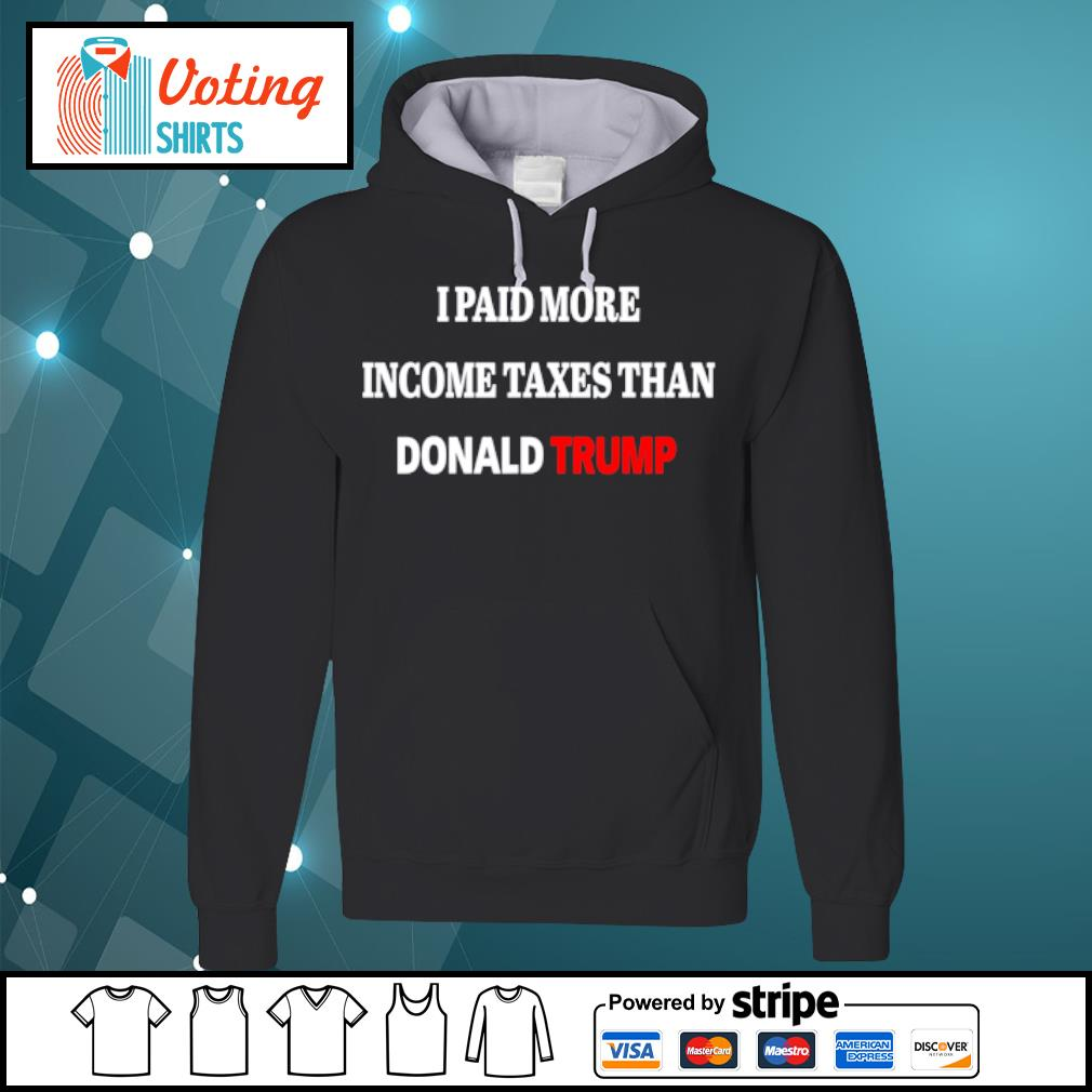 I paid more income taxes than Donald Trump s hoodie