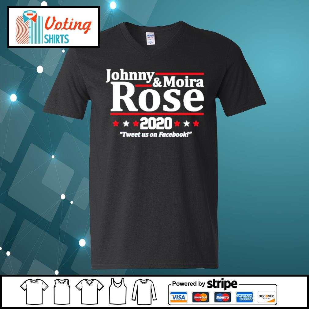 Johnny and Moira Rose 2020 tweet us on Facebook s v-neck-t-shirt