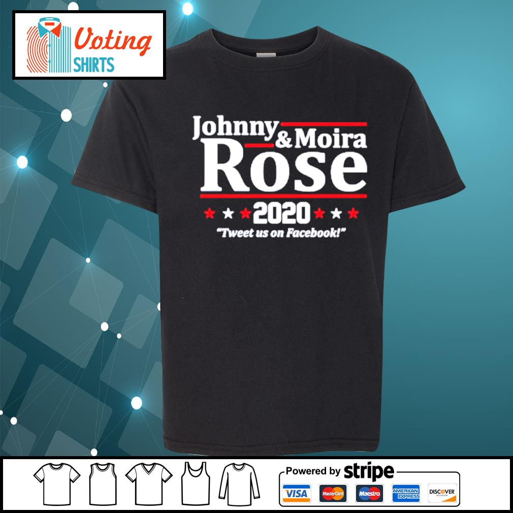 Johnny and Moira Rose 2020 tweet us on Facebook s youth-tee