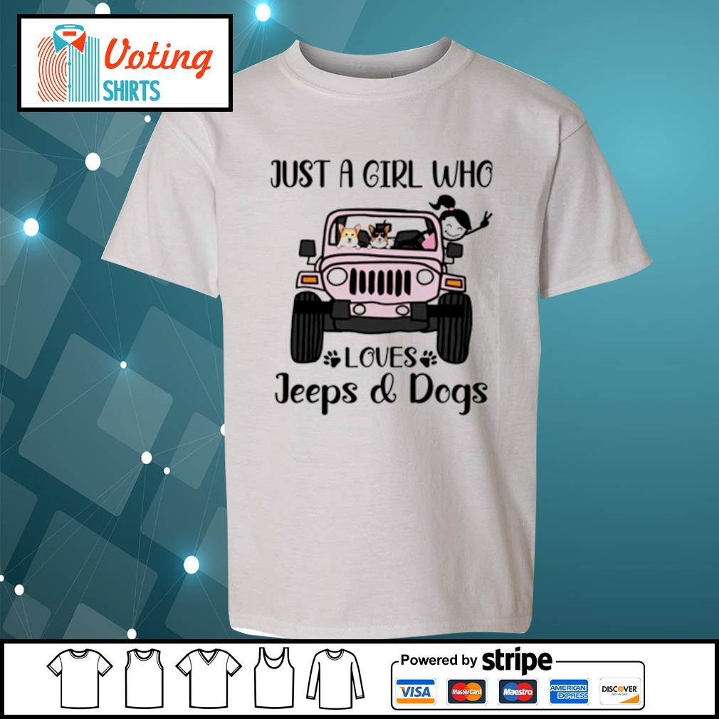 Just a girl who love with jeeps and dogs s youth-tee