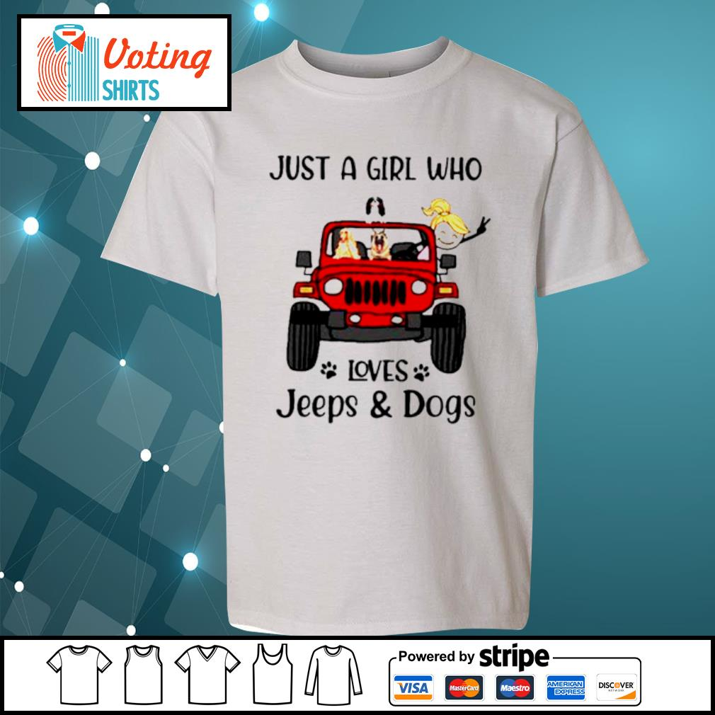 Just a girl who loves Jeeps and dogs s youth-tee