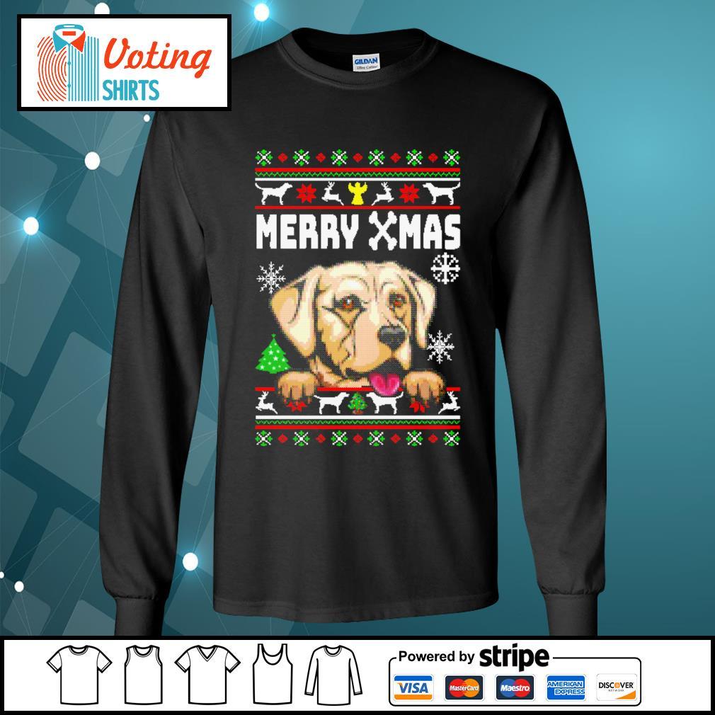 Labrador Merry Xmas ugly Christmas shirt, sweater longsleeve-tee