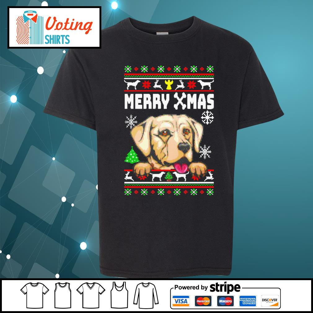 Labrador Merry Xmas ugly Christmas shirt, sweater youth-tee