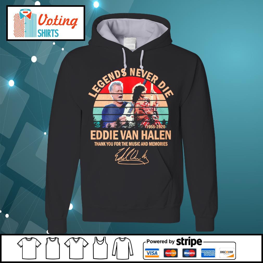 Legends never die Eddie Van Halen thank you for the memories vintage s hoodie