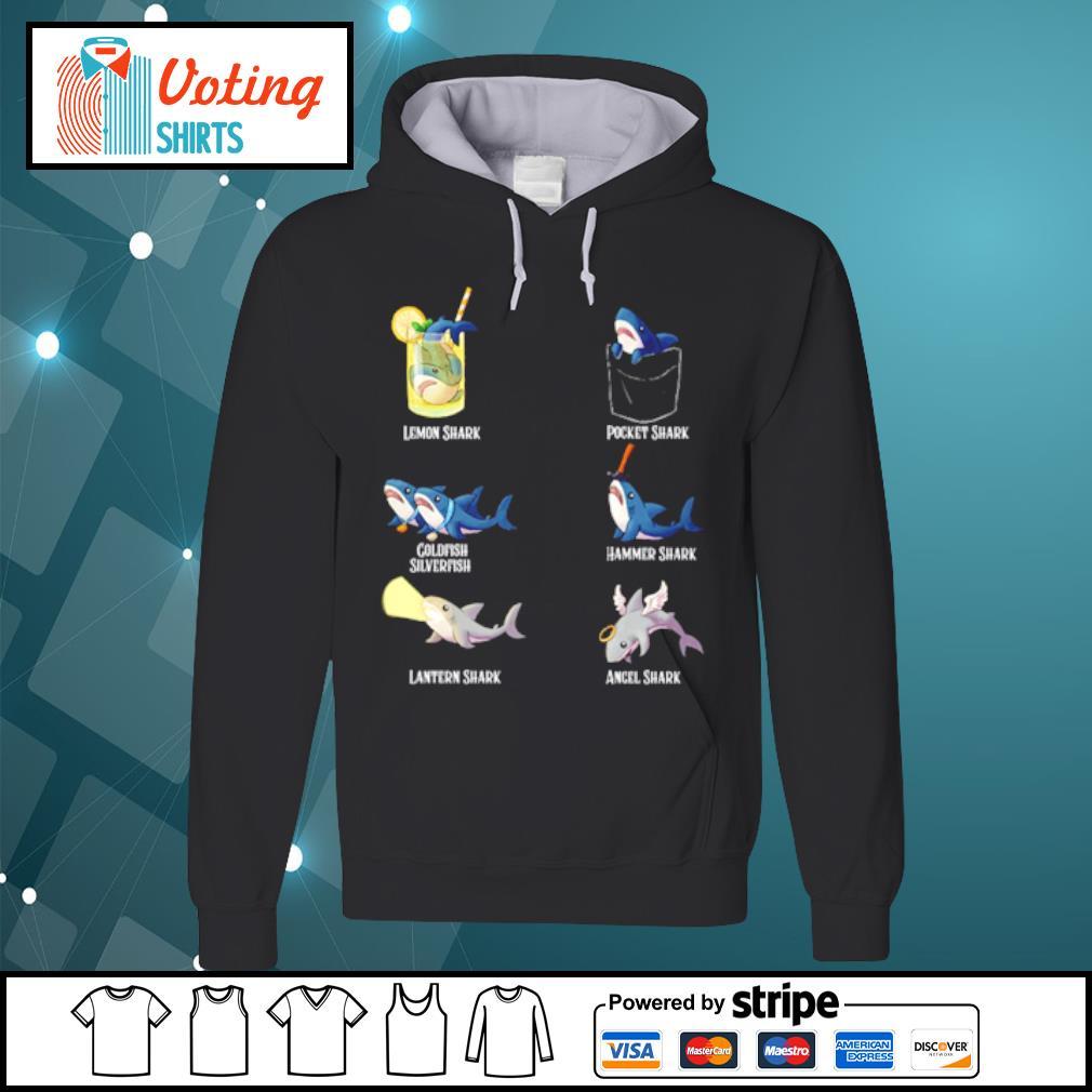 Lemon shark pocket shark cold fish silverfish s hoodie
