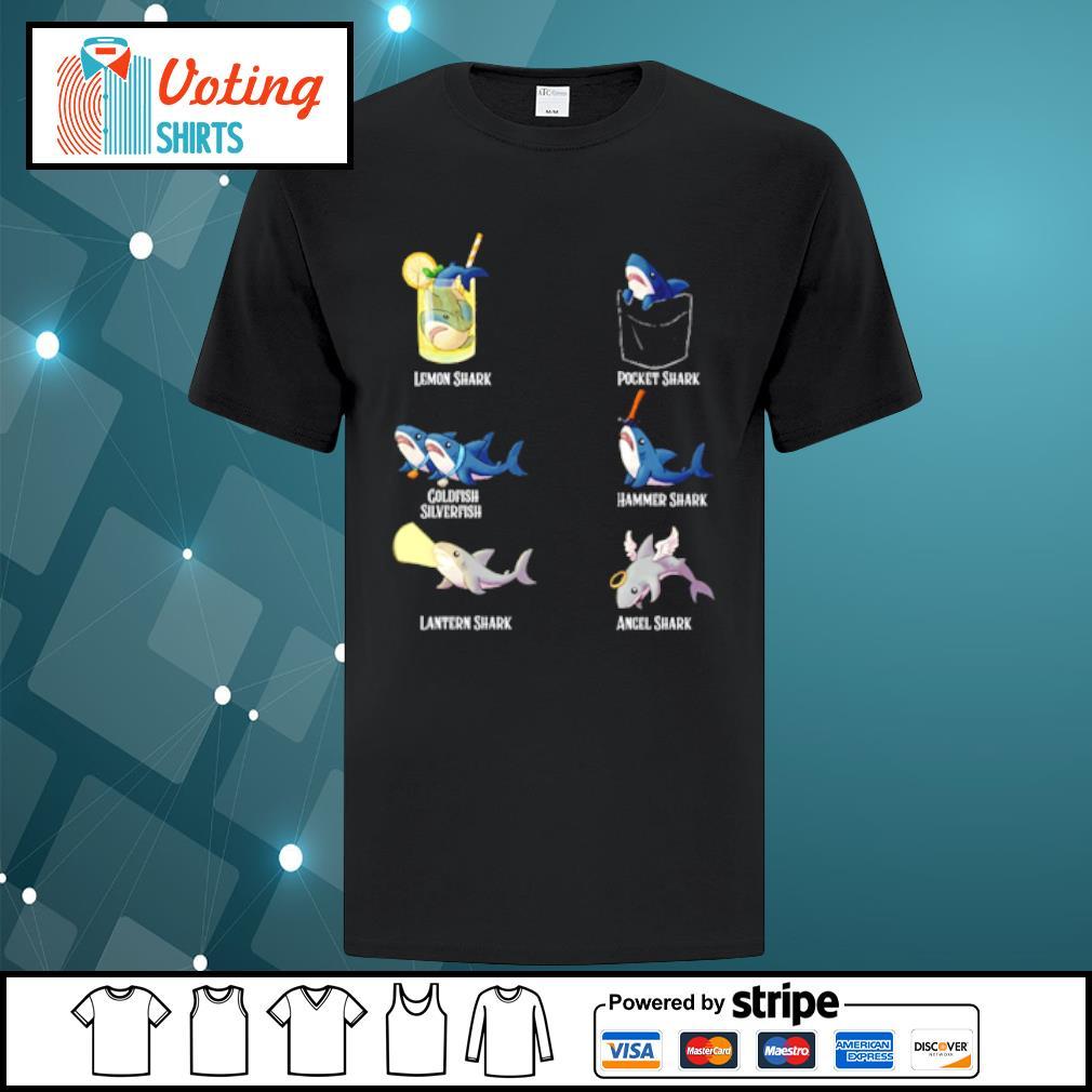 Lemon shark pocket shark cold fish silverfish shirt