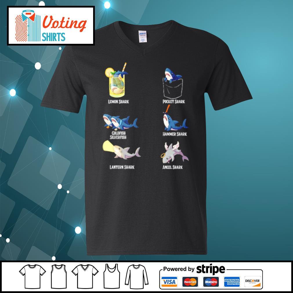 Lemon shark pocket shark cold fish silverfish s v-neck-t-shirt