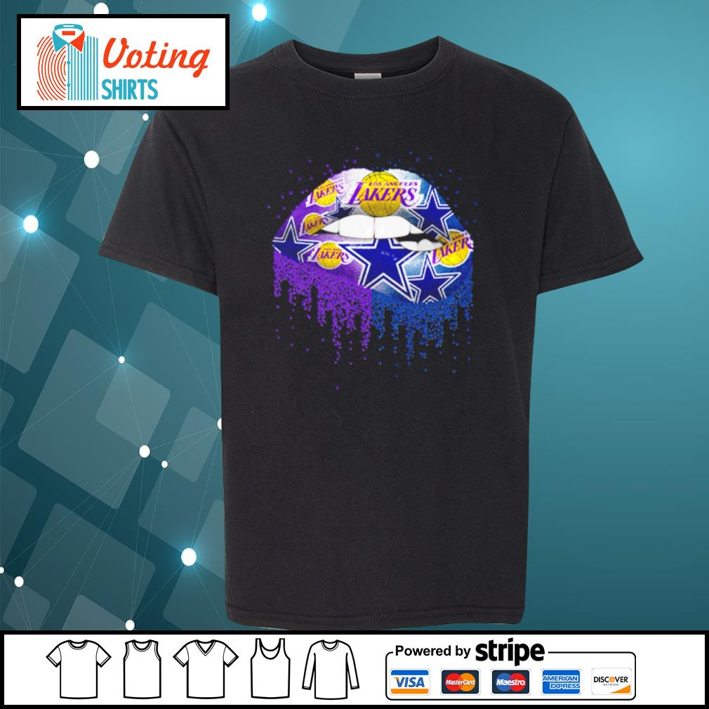 Lips Los Angeles Lakers and Dallas Cowboy s youth-tee