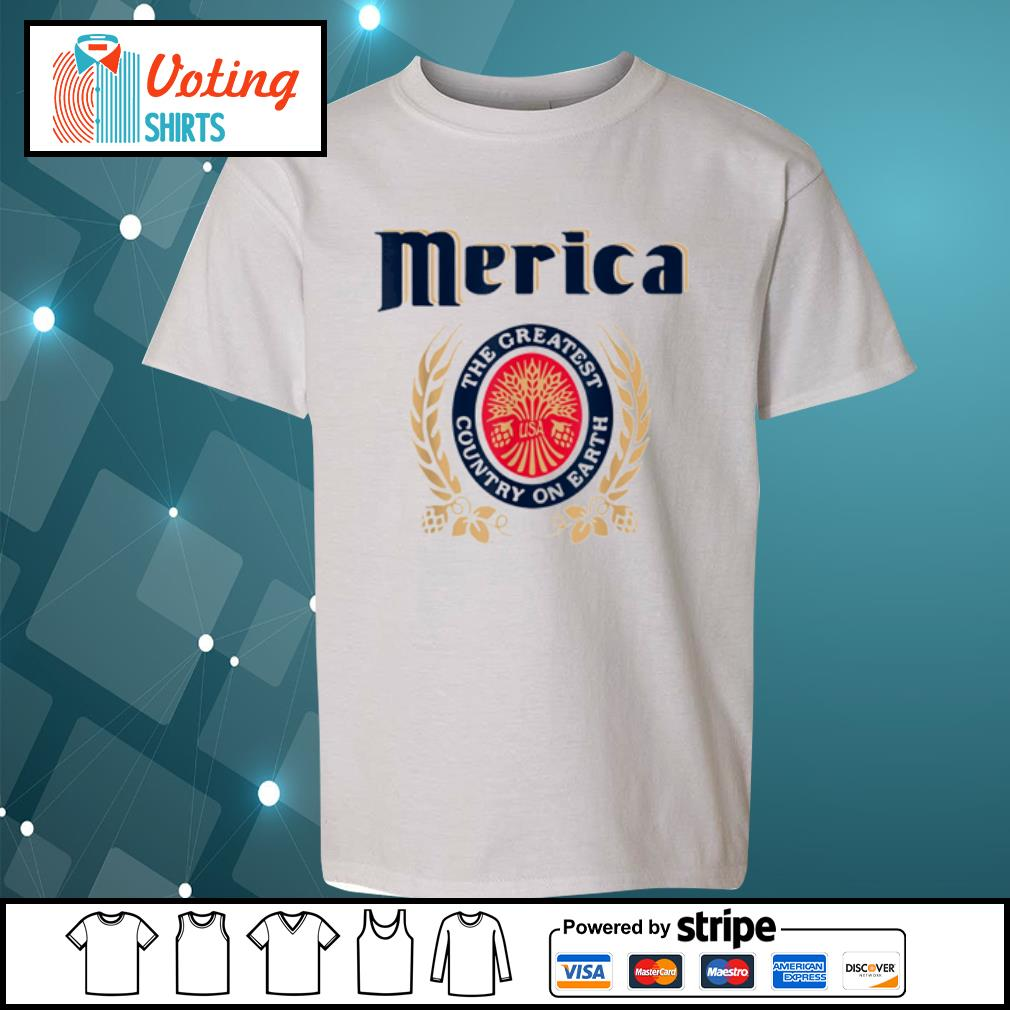 Merica the greatest country on earth Beer lovers s youth-tee