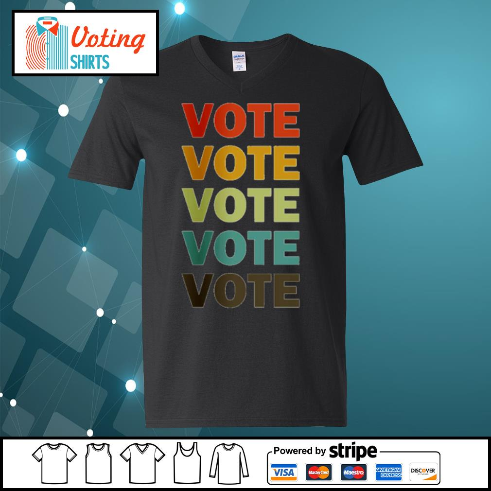 Nasty Women vote vote vote 2020 Biden Harris s v-neck-t-shirt