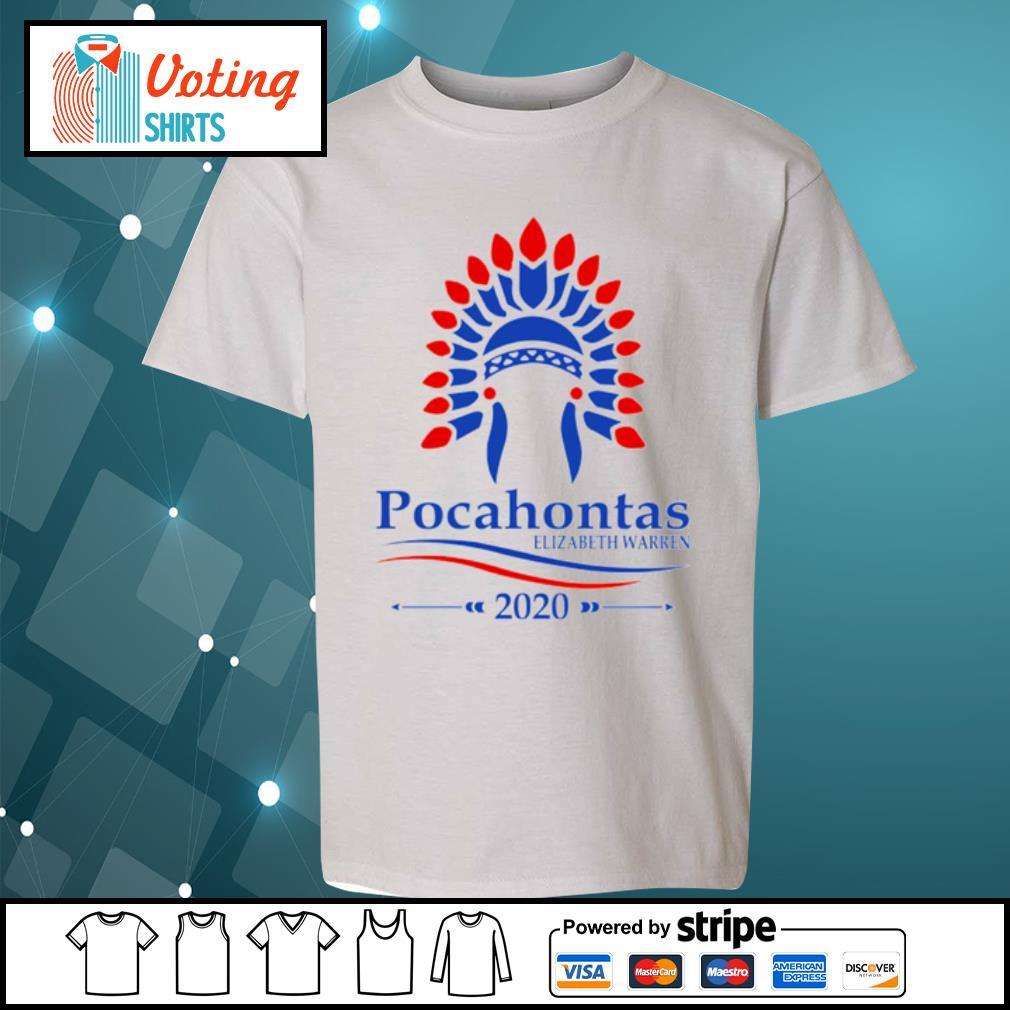 Pocahontas Elizabeth Warren 2020 s youth-tee