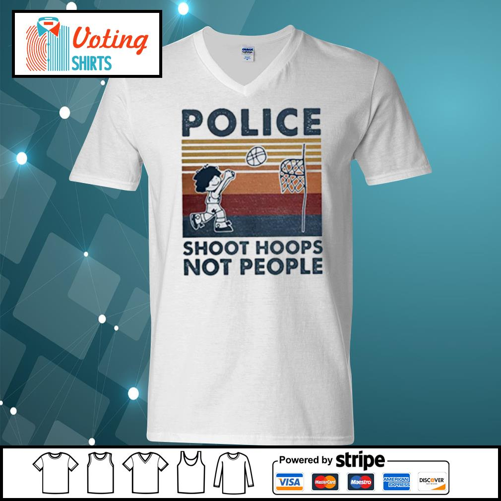 Police Shoot hoops not people Basketball s v-neck-t-shirt