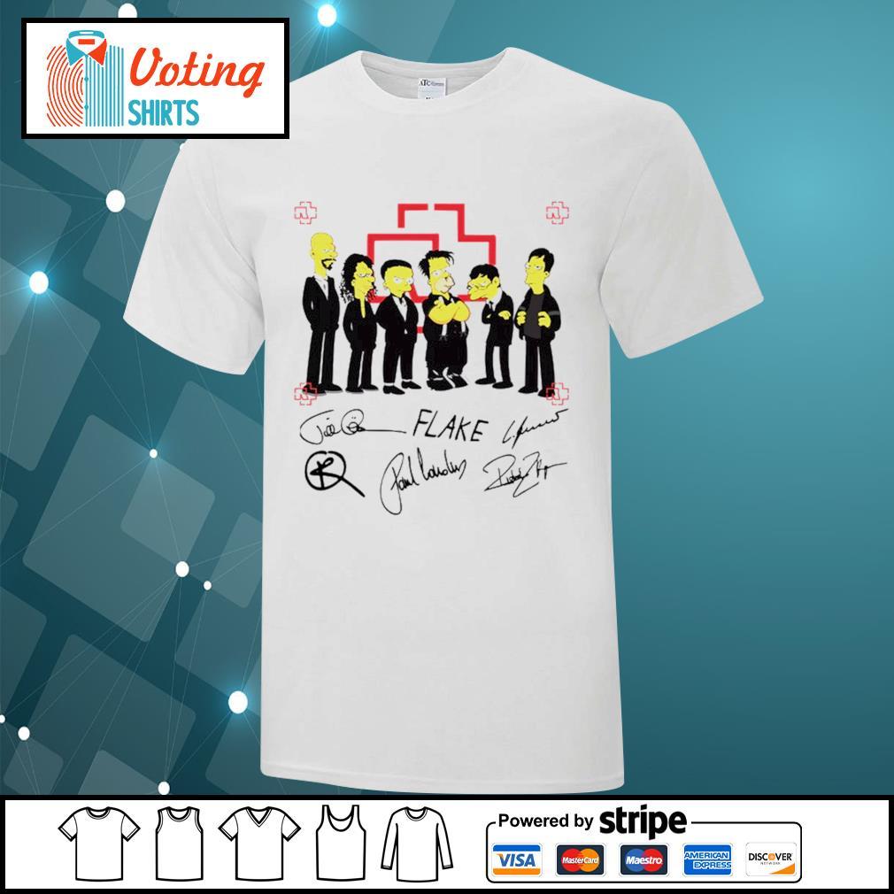 Rammstein Simpsons style signatures shirt