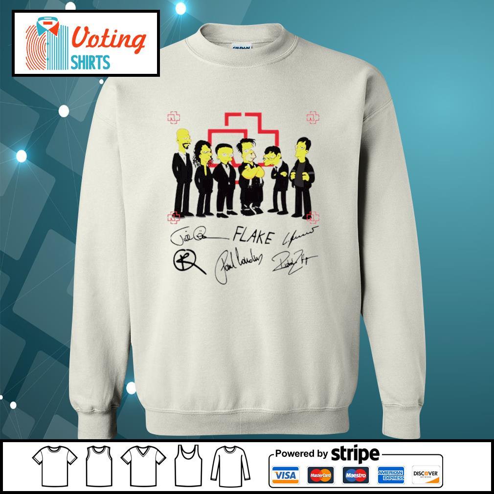 Rammstein Simpsons style signatures s sweater