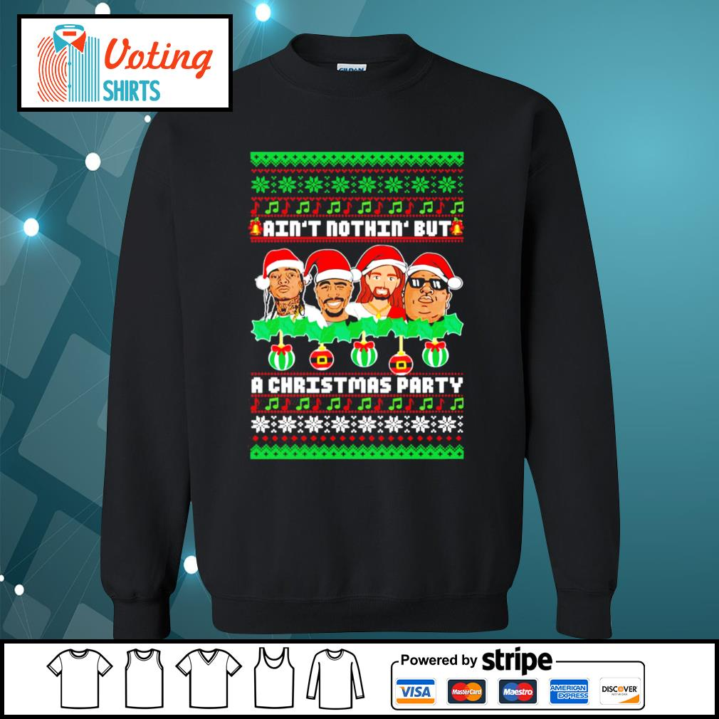 Rap Legends ain't nothin' but a Christmas party ugly Christmas s sweater