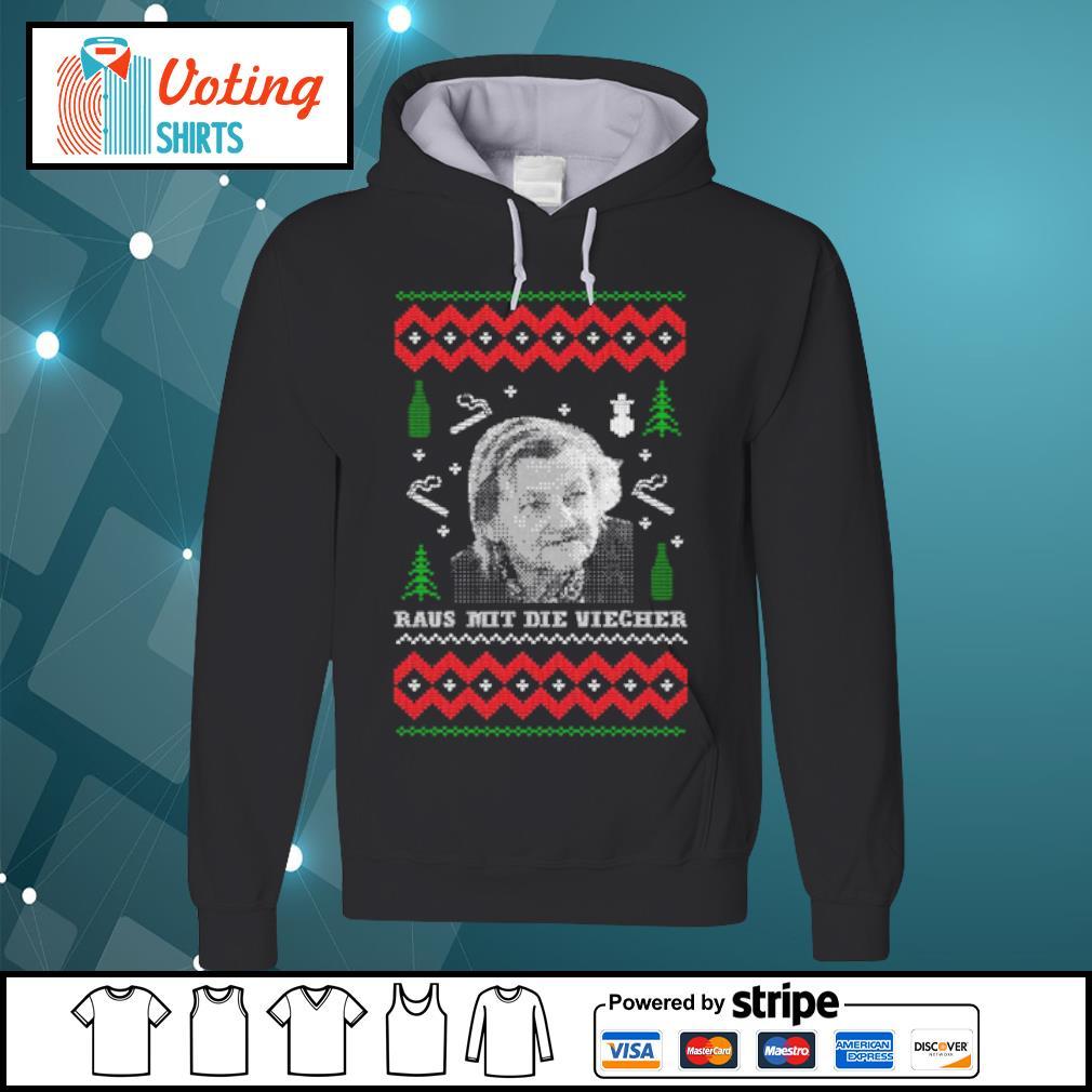 Raus mit die viecher ugly Christmas s hoodie