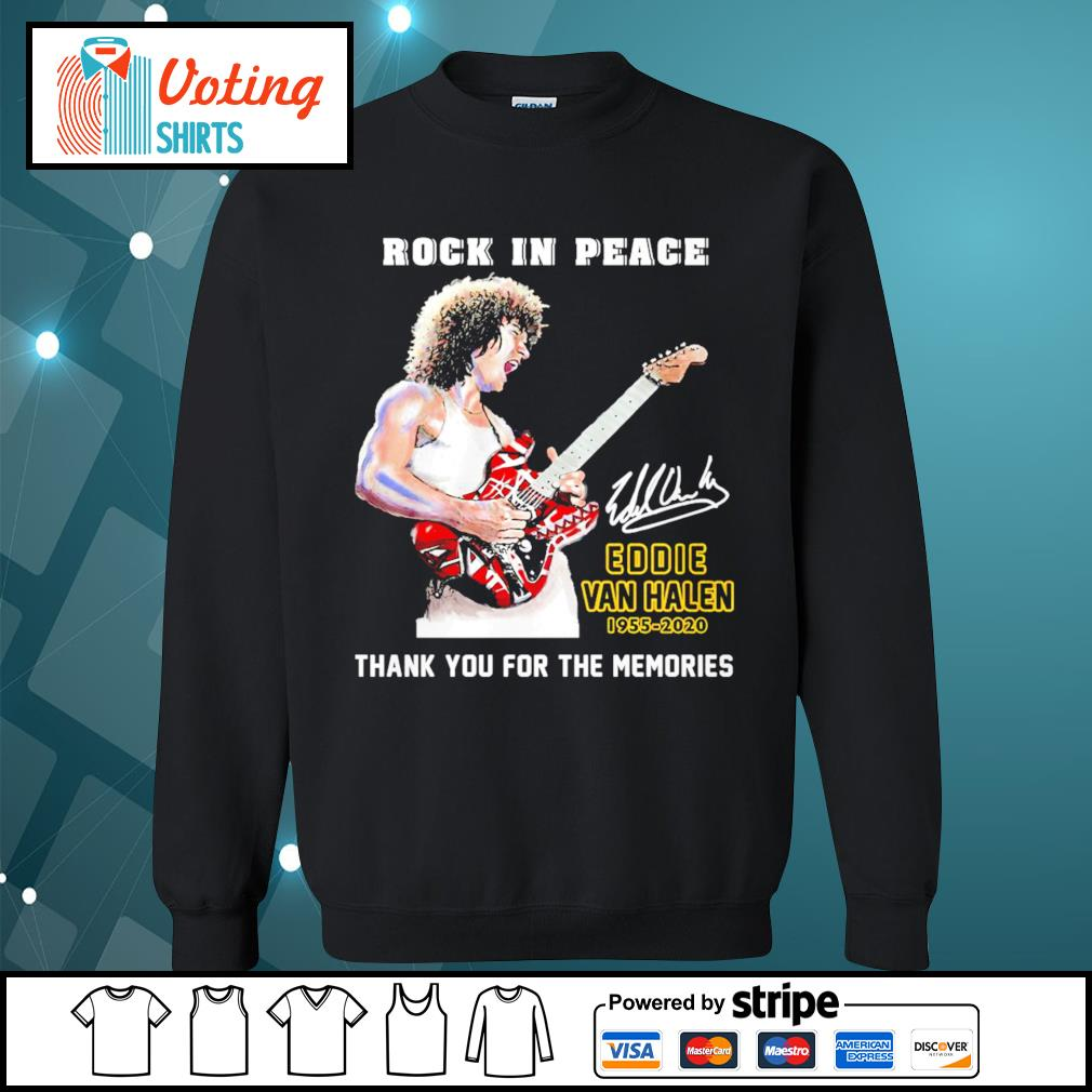 Rock in peace Eddie Van Halen 1955-2020 thank you for the memories s sweater