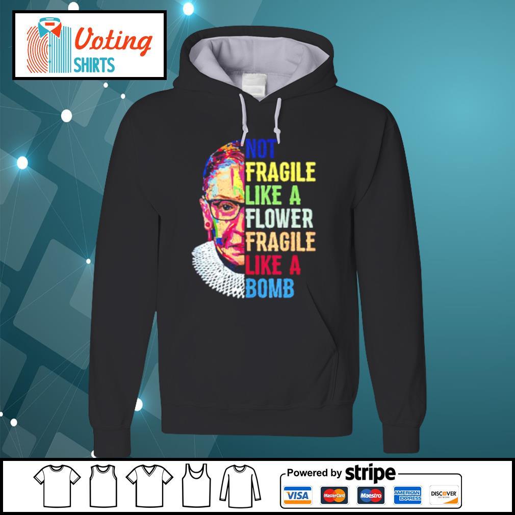Ruth Bader Ginsburg RBG no fragile Like a flower fragile like a bomb s hoodie