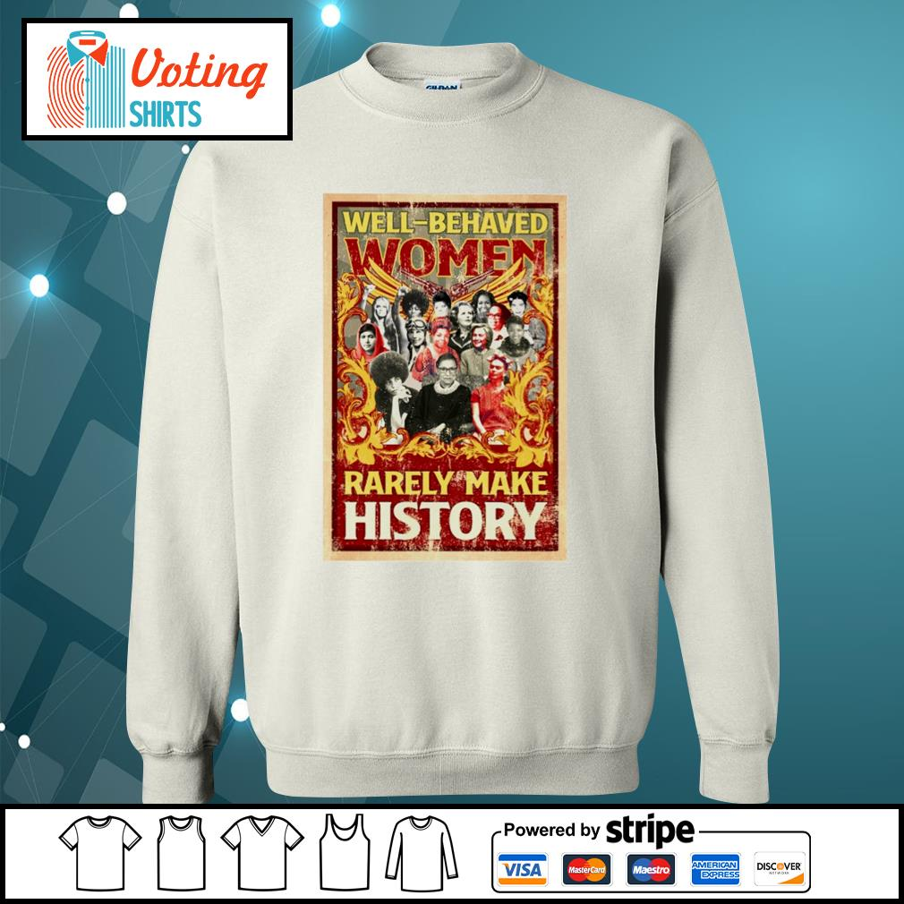 Ruth Bader Ginsburg well behaved women rarely make history s sweater