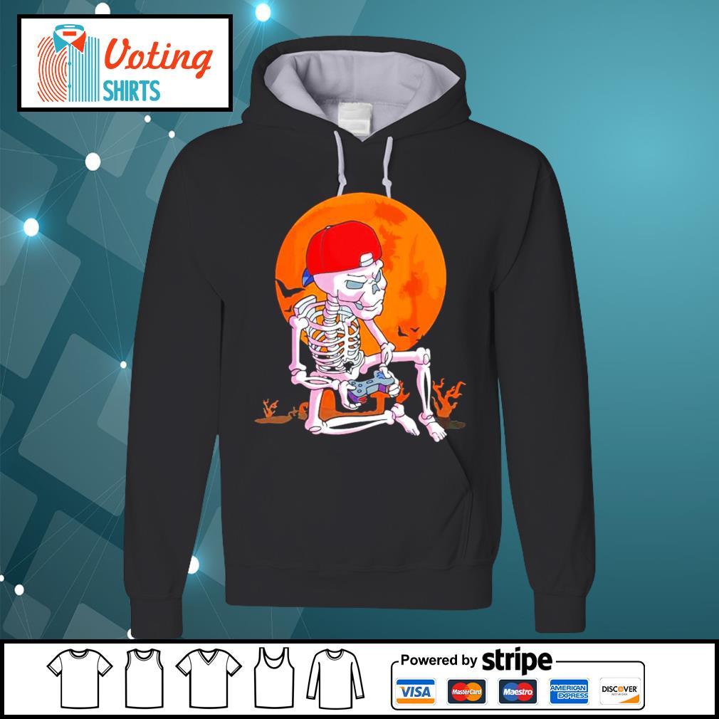 Skeleton boys gamer Halloween s hoodie