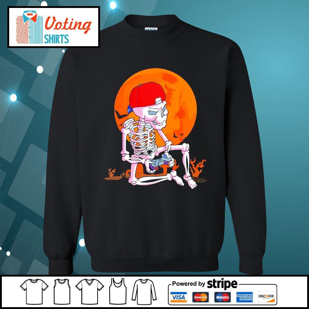 Skeleton boys gamer Halloween s sweater