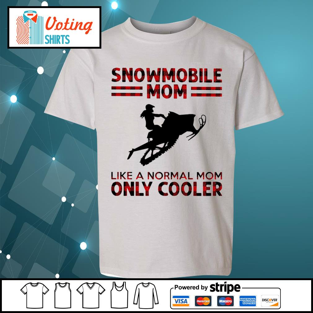 Snowmobile mom like a normal mom only cooler s youth-tee