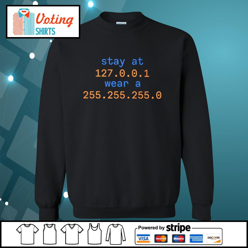Stay at 127 0 0 1 wear a 255 255 255 0 s sweater