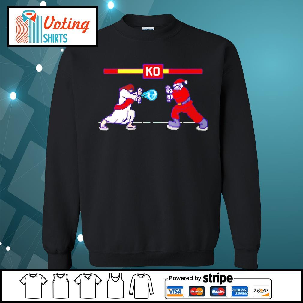 Street Fight Jesus vs Santa s sweater