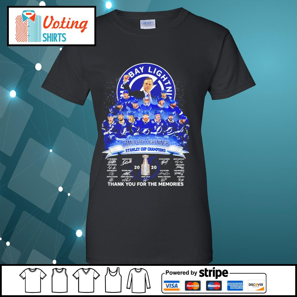 Tampa Bay Lightning stanley cup champions thank you for the memories s ladies-tee