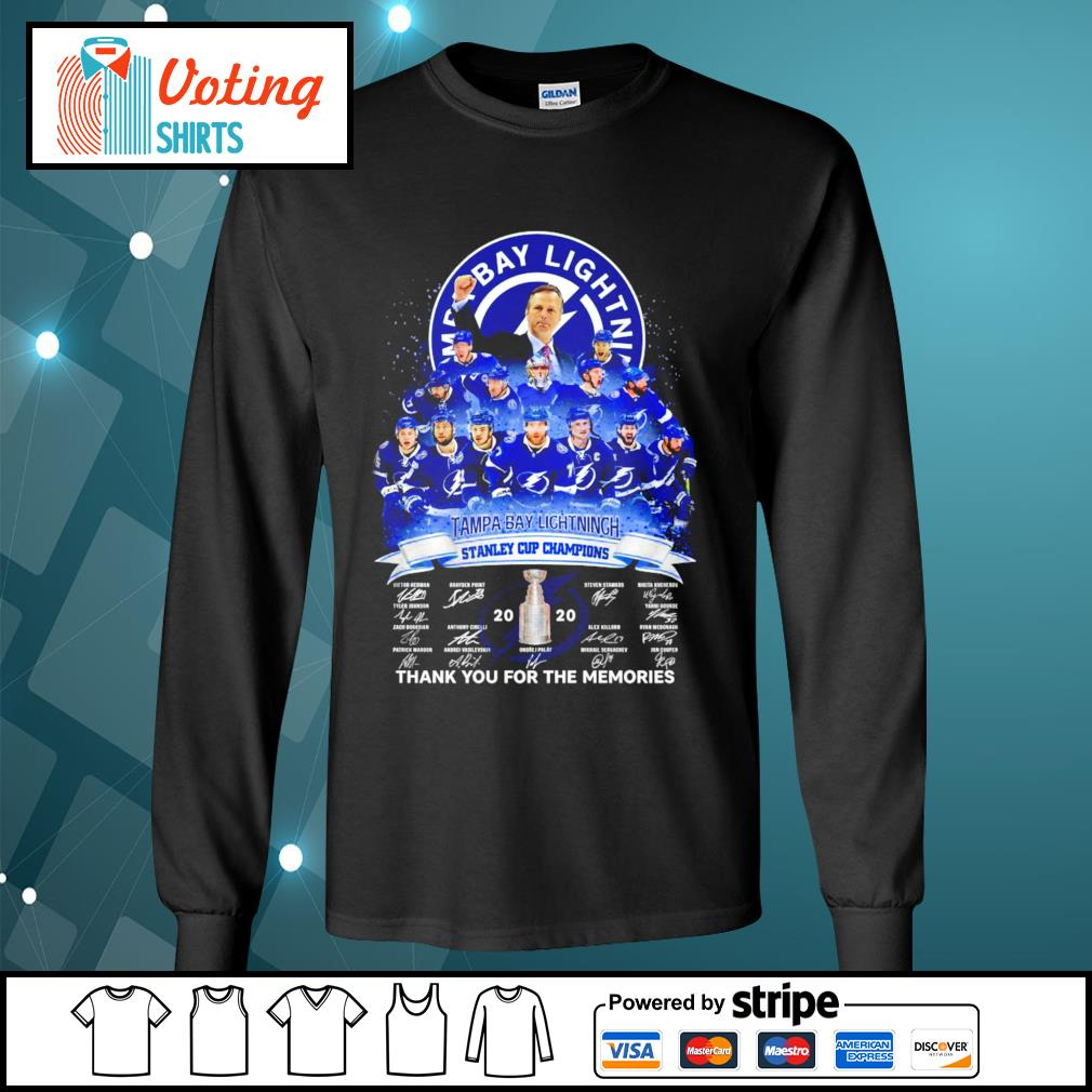 Tampa Bay Lightning stanley cup champions thank you for the memories s longsleeve-tee
