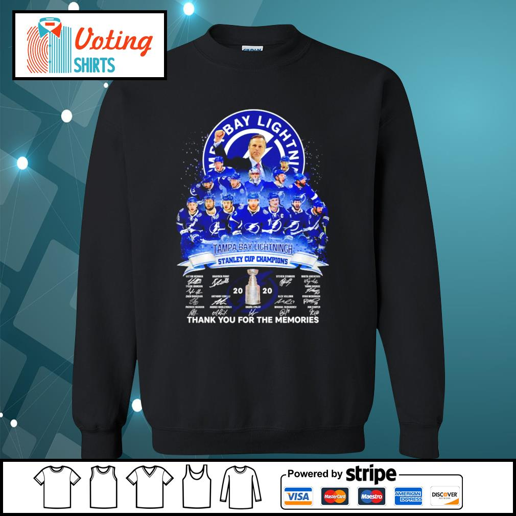 Tampa Bay Lightning stanley cup champions thank you for the memories s sweater